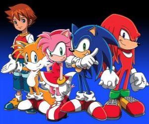 Rompicapo di Sonic e gli altri personaggi, dai video giochi di Sonic