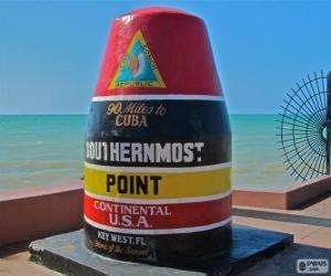 Rompicapo di Southernmost Point, (più meridionale), Key West, Florida, Stati Uniti