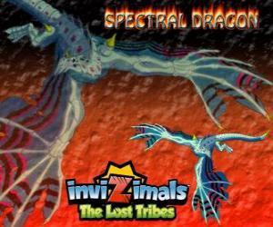Rompicapo di Spectral Dragon. Invizimals Le Tribù Scomparse. Invizimal male che assicura combattimenti facile se siete coraggiosi di avere al tuo fianco
