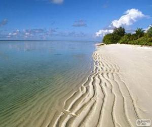 Rompicapo di Spiaggia delle Maldive