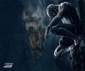 Rompicapo di Spiderman parti Venom con molti dei suoi poteri e abilità