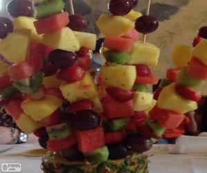 Rompicapo di Spiedino di frutta