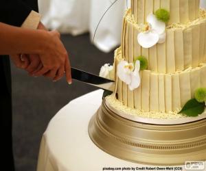 Rompicapo di Sposa e sposo taglio della torta