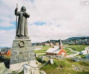 Rompicapo di Statua di Hans Egede, Nuuk, Groenlandia