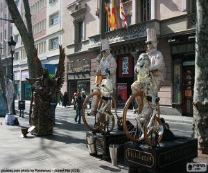 Rompicapo di Statue umane, Barcellona