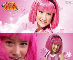 Rompicapo di Stephanie, la ragazza protagonista di Lazy Town che ama il colore rosa