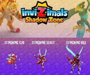 Rompicapo di Stingwing Cub, Stingwing Scout, Stingwing Max. Invizimals Le creature ombra. Il primo Invizimal catturato per Kenichi, un insetto interessante e pericoloso