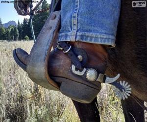 Rompicapo di Stivale cowboy