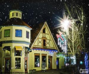 Rompicapo di Strada con luci di Natale