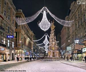 Rompicapo di Street decorato per Natale