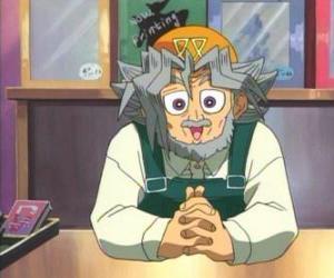 Rompicapo di Sugoroku Muto o Salomone Muto è il nonno di Yugi e il proprietario di un negozio di giochi da tavolo