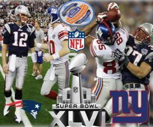 Rompicapo di Super Bowl XLVI - New England Patriots vs New York Giants