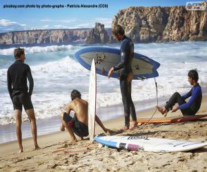Rompicapo di Surfisti sulla spiaggia
