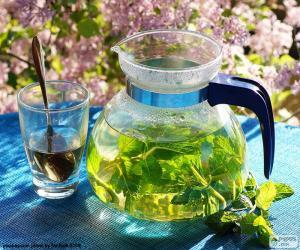 Rompicapo di Tè alla menta fresca