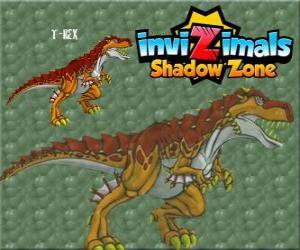 Rompicapo di T-Rex. Invizimals Le creature ombra. Il potente T-Rex è un dinosauro Invizimal