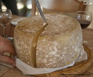 Rompicapo di Taglio di un formaggio di pecora