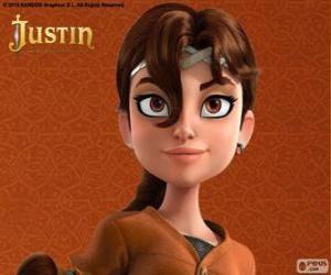 Rompicapo di Talia è compagna di avventure di Justin