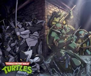 Rompicapo di Tartarughe Ninja in azione