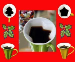 Rompicapo di tazze da caffè Natale forme
