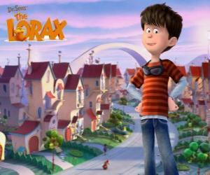 Rompicapo di Ted Wiggins, un ragazzo idealistico di 12 anni, il protagonista del film Lorax