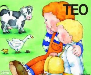 Rompicapo di Teo e sua sorella Clara con animali