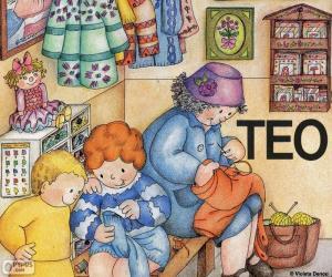 Rompicapo di Teo imparare a cucire