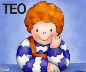 Rompicapo di Teo, un personaggio dai libri per bambini di Violeta Denou