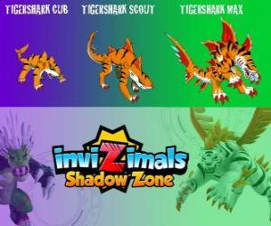 Rompicapo di Tigershark Cub, Tigershark Scout, Tigershark Max. Invizimals Le creature ombra. Guerrieri della leggenda in India e Sri Lanka
