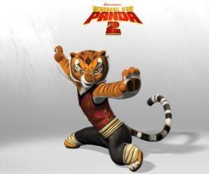 Rompicapo di Tigre è il più forte e più coraggiosi dei maestri di Kung Fu.