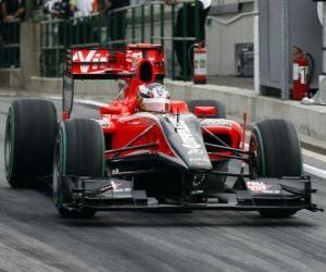 Rompicapo di Timo Glock - Virgin - Gran Premio d'Ungheria 2010