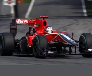 Rompicapo di Timo Glock - Virgin - Monza 2010