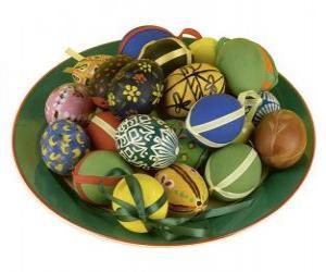 Rompicapo di Tipice uova decorate de Pasqua