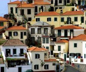 Rompicapo di Tipiche case del villaggio di Câmara de Lobos - Madeira - (Portogallo)