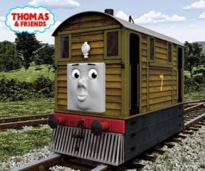 Rompicapo di Toby è la locomotiva marrone n. 7