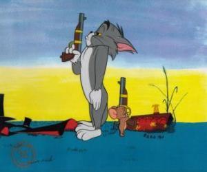 Rompicapo di Tom e Jerry in un duello