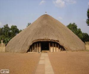 Rompicapo di Tombe dei re di Buganda di Kasubi, Kampala, Uganda