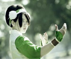 Rompicapo di Toph Bei Fong, Toph è una ragazza nata cieca, che accompagna Aang nella sua ricerca e di insegnargli il terra - controllo