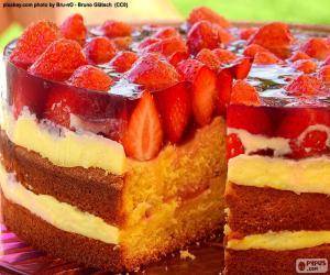 Rompicapo di Torta di fragole deliziose