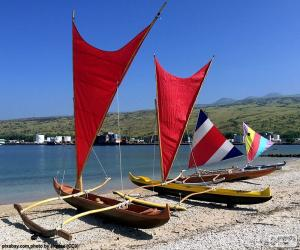 Rompicapo di Tradizionali canoe, Pacifico