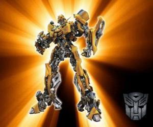Rompicapo di Transformers Bumblebee, è chiamato - piccolo fratello - Autobot