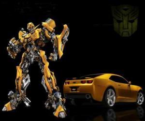 Rompicapo di Transformers, la macchina e il robot in cui si trasforma