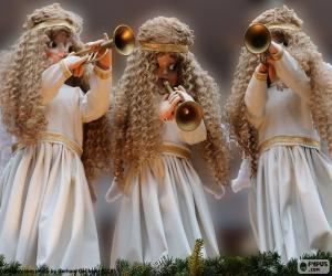 Rompicapo di Tre angeli suonare la tromba