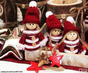 Rompicapo di Tre bambole di Natale