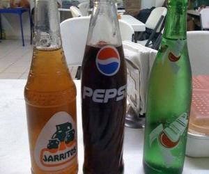 Rompicapo di Tre bottiglie di bibite o bevande