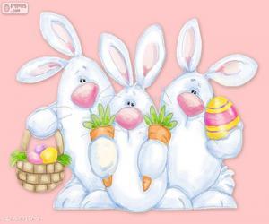 Rompicapo di Tre conigli di Pasqua