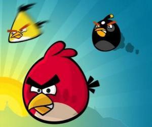 Rompicapo di Tre degli uccelli da Angry Birds