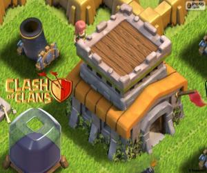 Rompicapo di Tre edifici di Clash of Clans
