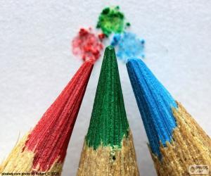 Rompicapo di Tre matite di colori