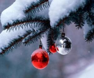 Rompicapo di Tre palle di Natale da appendere albero