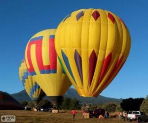 Rompicapo di Tre palloncini pronti a volare